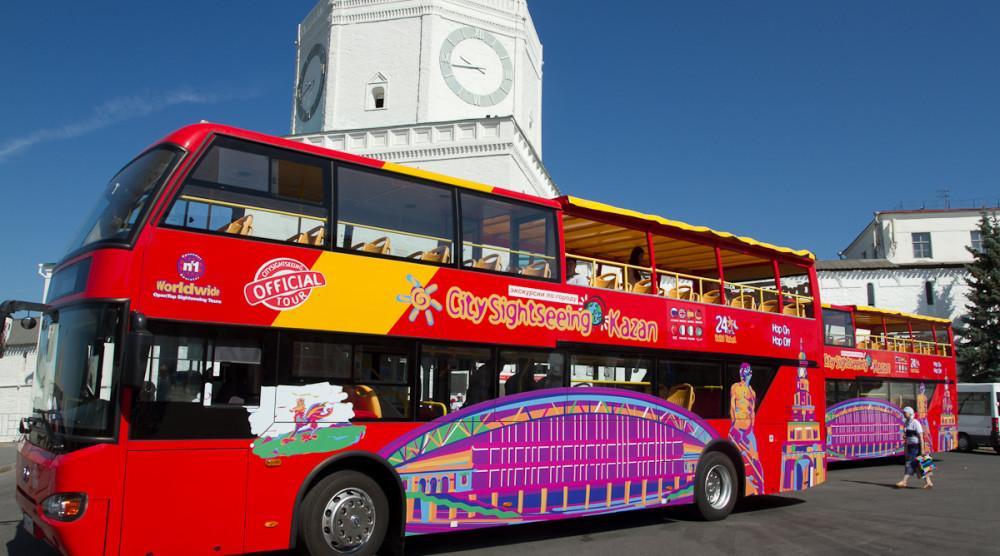 «CITY SIGHTSEEING» - экскурсия по Казани на красном двухэтажном автобусе - фото №1