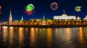 Салют в честь «Дня России» с борта теплохода - водная прогулка по Москве - уменьшенная копия фото №5