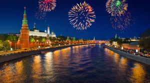 Салют в честь «Дня России» с борта теплохода - водная прогулка по Москве - уменьшенная копия фото №4