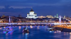 Вечерняя прогулка на теплоходе по Москве-реке на День железнодорожника с ужином и дискотекой - уменьшенная копия фото №1