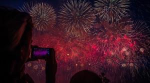 Просмотр международного фестиваля фейерверков РОСТЕХ в Москве с борта теплохода - уменьшенная копия фото №2
