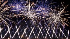 Просмотр международного фестиваля фейерверков РОСТЕХ в Москве с борта теплохода - уменьшенная копия фото №3