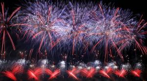 Просмотр международного фестиваля фейерверков РОСТЕХ в Москве с борта теплохода - уменьшенная копия фото №4