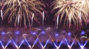 Просмотр международного фестиваля фейерверков РОСТЕХ в Москве с борта теплохода - уменьшенная копия фото №7