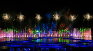 Просмотр международного фестиваля фейерверков РОСТЕХ в Москве с борта теплохода - уменьшенная копия фото №8