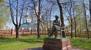 Памятник А.С.Пушкину в Болдино - уменьшенная копия фото №1
