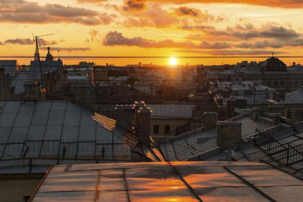 Закат на крыше с видом на Неву - вечерняя экскурсия
