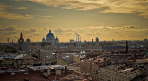 Закат с крыши Петербурга с видом на Неву - вечерняя экскурсия - уменьшенная копия фото №5