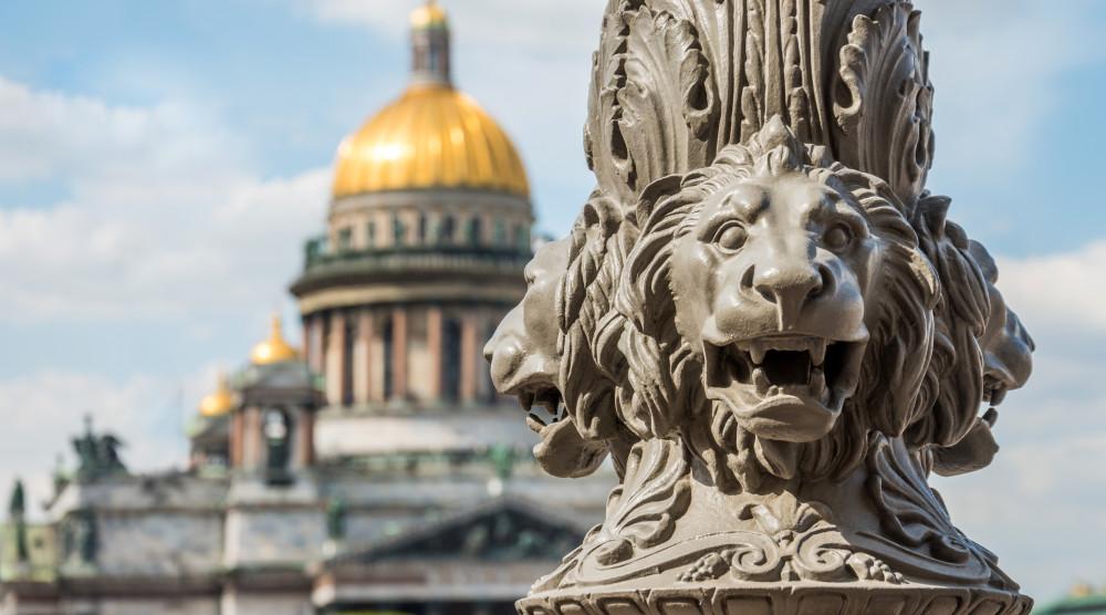 «Львы стерегут город» - тематическая обзорная экскурсия для детей по Санкт-Петербургу - фото №1