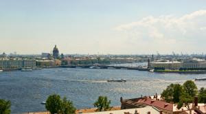 Просмотр разводки мостов с крыши Петербурга - уменьшенная копия фото №4