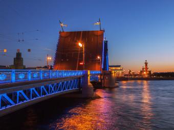 Истории разводных мостов - ночная экскурсия на теплоходе