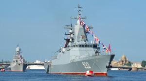 «Парад военных кораблей» - водная прогулка по Неве в день ВМФ - уменьшенная копия фото №1