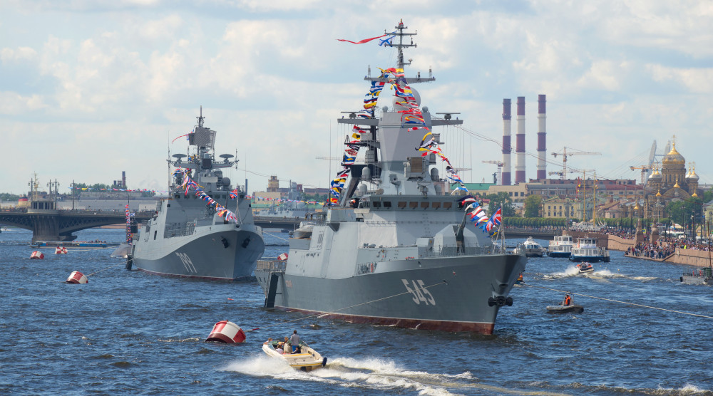 «Парад военных кораблей» - водная прогулка в день ВМФ на теплоходе-ресторане - фото №1
