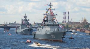 «Парад военных кораблей» - водная прогулка по Неве в день ВМФ - уменьшенная копия фото №8